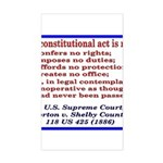 Unconstitutional Laws Sticker (Rectangle)