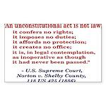 Unconstitutional Laws Sticker (Rectangle 10 pk)