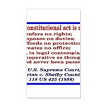 Unconstitutional Laws 35x21 Wall Decal