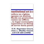 Unconstitutional Laws 20x12 Wall Decal
