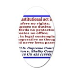 Unconstitutional Laws 35x21 Oval Wall Decal