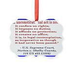 Unconstitutional Laws Picture Ornament