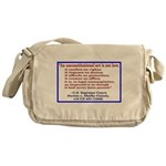 Unconstitutional Laws Messenger Bag