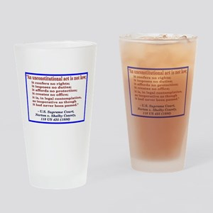 Unconstitutional Laws Drinking Glass