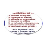 Unconstitutional Laws 20x12 Oval Wall Decal