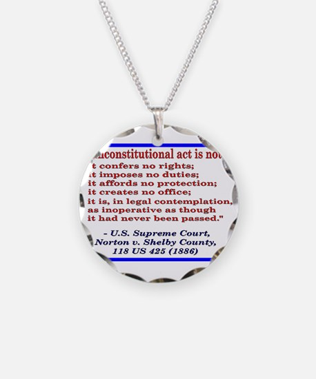 Unconstitutional Laws Necklace