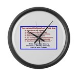 Unconstitutional Laws Large Wall Clock