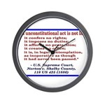Unconstitutional Laws Wall Clock