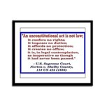 Unconstitutional Laws Framed Panel Print