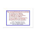 Unconstitutional Laws Mini Poster Print