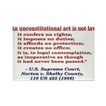 Unconstitutional Laws Rectangle Magnet