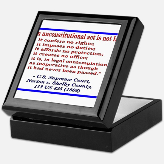 Unconstitutional Laws Keepsake Box