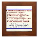 Unconstitutional Laws Framed Tile