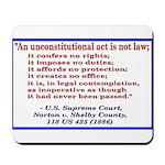 Unconstitutional Laws Mousepad