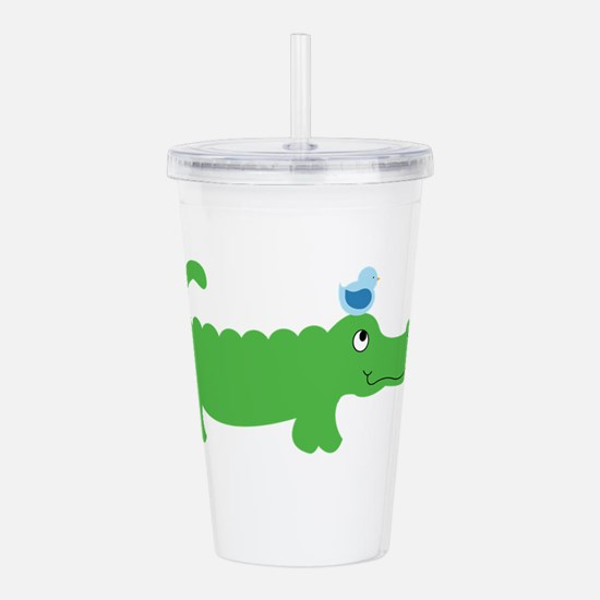 Preppy Green Alligator Acrylic Double-wall Tumbler