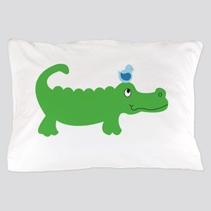 Preppy Green Alligator Pillow Case