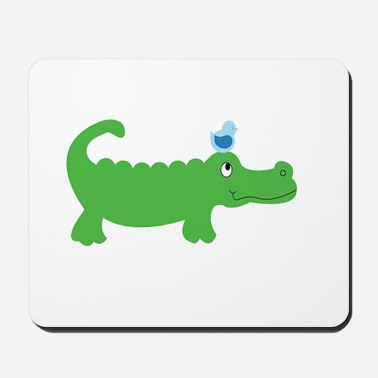 Preppy Green Alligator Mousepad