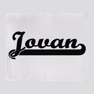 Jovan Classic Retro Name Design Throw Blanket