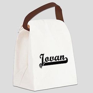 Jovan Classic Retro Name Design Canvas Lunch Bag