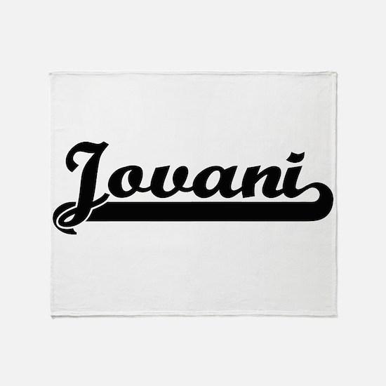 Jovani Classic Retro Name Design Throw Blanket
