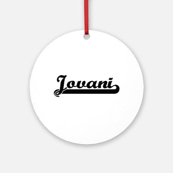 Jovani Classic Retro Name Design Ornament (Round)