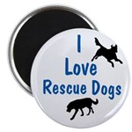 I Love Rescue Dogs Magnet