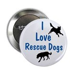 I Love Rescue Dogs Button
