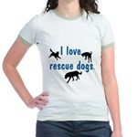 I Love Rescue Dogs Jr. Ringer T-Shirt