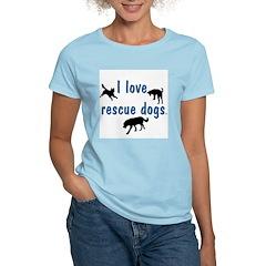 I Love Rescue Dogs Women's Light T-Shirt