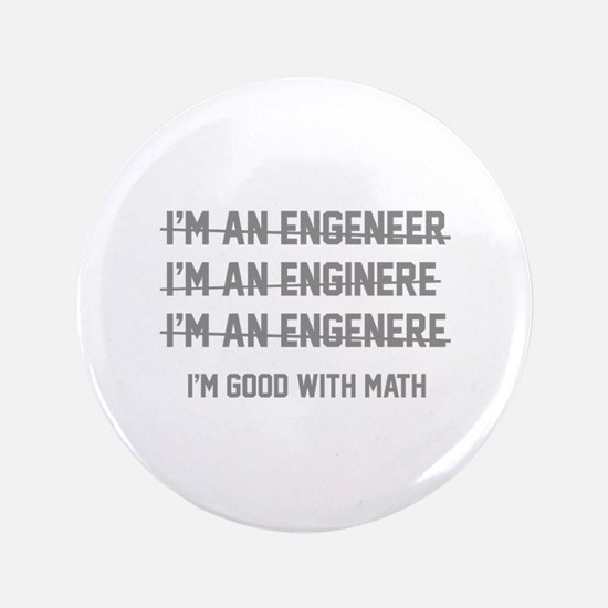 """I'm Good With Math 3.5"""" Button (100 pack)"""
