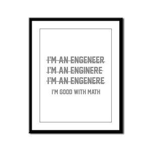I'm Good With Math Framed Panel Print