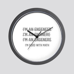 I'm Good With Math Wall Clock