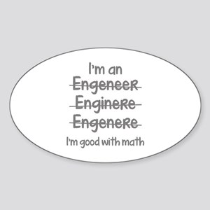 I'm Good With Math Sticker (Oval)