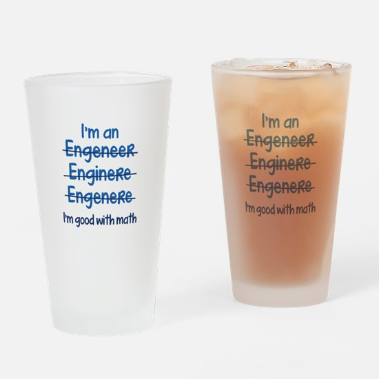 I'm Good With Math Drinking Glass