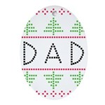 dad holiday Ornament (Oval)