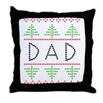 dad holiday Throw Pillow