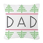 dad holiday Woven Throw Pillow