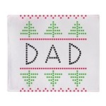 dad holiday Throw Blanket