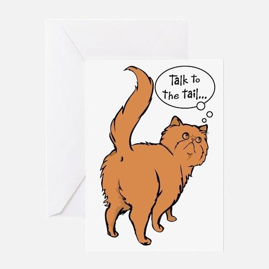 Red Persian Tail Talk Greeting Card