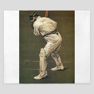 cricket art King Duvet