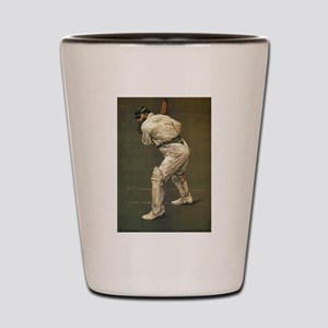 cricket art Shot Glass