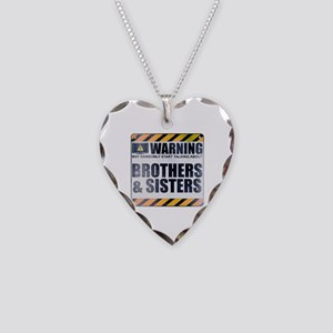Warning: Brothers & Sisters Necklace Heart Charm