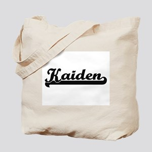Kaiden Classic Retro Name Design Tote Bag