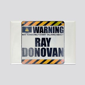 Warning: Ray Donovan Rectangle Magnet