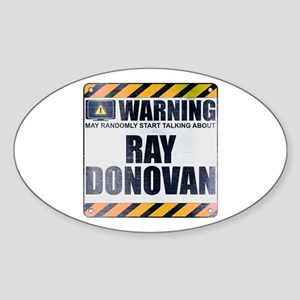 Warning: Ray Donovan Oval Sticker