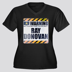 Warning: Ray Donovan Women's Dark Plus Size V-Neck