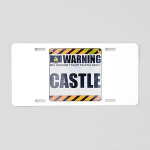 Warning: Castle Aluminum License Plate
