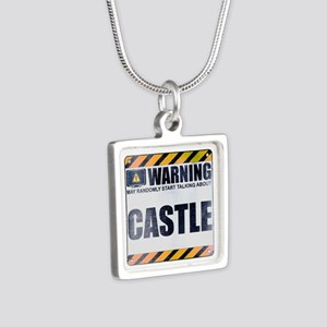 Warning: Castle Silver Square Necklace