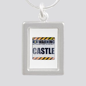 Warning: Castle Silver Portrait Necklace