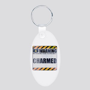 Warning: Charmed Aluminum Oval Keychain